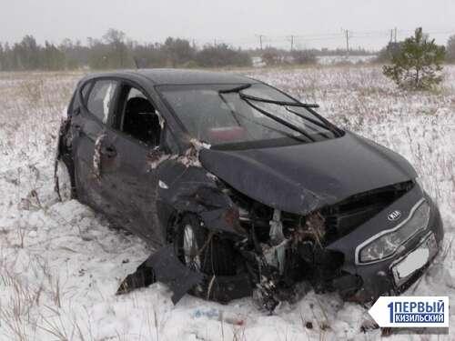 Погода подвела. В Кизильском районе 29-летняя автоледи отправила авто в кювет